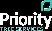 priority trees white logo